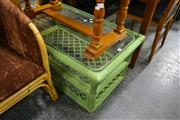 Sale 8013 - Lot 1266 - Green Cane Glass Top Coffee Table