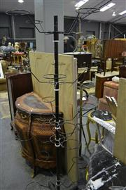 Sale 8031 - Lot 1065 - Industrial Metal Provincial Type Multi-Tiered Hat and Cap Rack