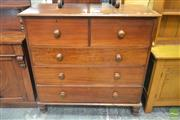 Sale 8255 - Lot 1014 - 19th Century Cedar Chest of Five Drawers, on turned feet (2 feet missing)