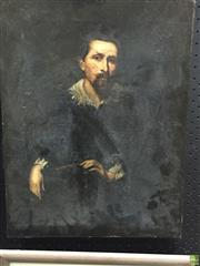 Sale 8648B - Lot 2025 - Artist Unknown Portrait of Francis Smyder (After Anthony Van Dyck), oil on canvas, 55 x 42.5cm, unsigned -
