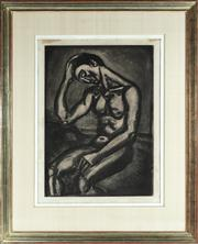 Sale 8844 - Lot 3 - After Georges Rouault - Lonely Sojourner in this Life of Pitfalls and Malice aquatint signed in plate