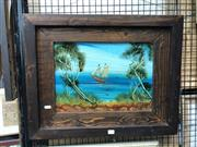 Sale 8850 - Lot 2038 - Nick Petali - The Arrival oil on board , 48.5 x 60cm (frame), signed lower right -