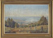 Sale 8907 - Lot 594 - Alan Grieve (1910 - 1970) - Valley View from Kurrajong, 1941 34 x51.5 cm