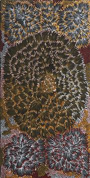 Sale 9084 - Lot 607 - Eunice Napangardi (c1950 - 2005) - Bush Bannna Leaves 90 x 46 cm (stretched and ready to hang)