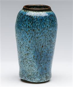 Sale 9175 - Lot 207 - A Speckled Glazed Chinese Vase (H:13.5cm)