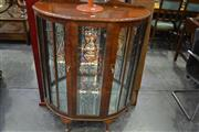 Sale 8093 - Lot 1058 - Bow Front Display Cabinet