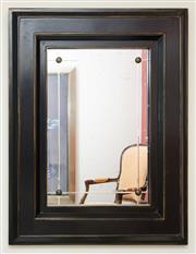 Sale 8205 - Lot 62 - A Milling Road mirror with ebonised and gilt frame and brass stud work, H 98 x W 77cm