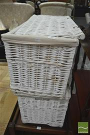 Sale 8289 - Lot 1067 - Pair of Wicker Baskets