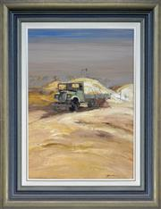 Sale 8339A - Lot 591 - Colin Parker (1941 - ) - The Old Blitz - Grawin Opal Fields, Western NSW 60 x 44.5cm