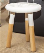 Sale 8709 - Lot 1042 - A three legged stool by Middle of Nowhere with a lacquered finish, H x 45cm