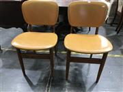 Sale 8805 - Lot 1074 - Set of Four Retro Dining Chairs with Vinyl Back & Seat