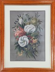 Sale 8973 - Lot 2004 - Ellis Rowan A Bunch of West Australian Wildflowerschromolithograph 79.5 x 61cm (frame) printed by Alfe Cooke, Queens Colour Print...