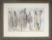Sale 8992 - Lot 573 - Don Peebles (1922 - 2010) - Drawings for Canvas Pieces, 1978 39.5 x 58.5 cm (frame: 67 x 85 x 5 cm)