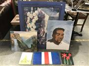 Sale 9033 - Lot 2065 - A group of 10 assorted original paintings and a decorative print