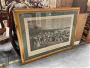 Sale 9069 - Lot 2069 - Charles Lees The Golfers, handcoloured coloured offset lithograph after the original engraving  by Charles Flagstaffe, frame: 82 x...