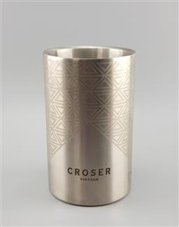 Sale 9134 - Lot 1060 - Cylindrical Aluminium promotional champagne bucket for Croser Vintage (h:20cm)