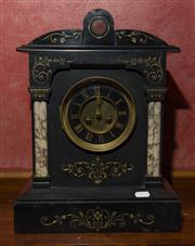 Sale 7978 - Lot 68 - French 19th Century Marble & Slate Mantle Clock
