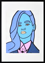 Sale 8441A - Lot 5033 - Jack Vigor (Street Artist, CASPER) - Rihanna 49 x 39cm (stretched & ready to hang)