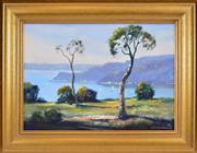 Sale 8403A - Lot 5065 - James Radford (1938 - ) - Overlooking the Cove 47 x 66.5cm