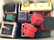 Sale 8539M - Lot 257 - Lots of Blocks, a large box of timber cubes and related articles