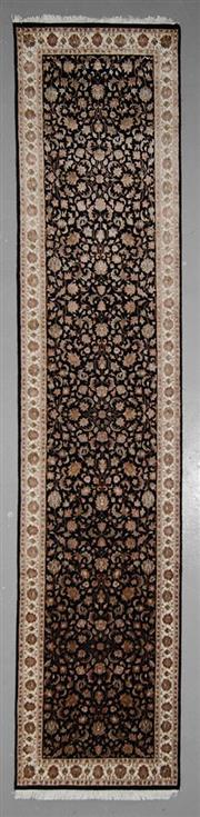 Sale 8545C - Lot 60 - Indo Nain Silk Inlay Runner 365cm x 78cm