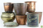 Sale 8551 - Lot 65 - Copper And Brass Jardinieres
