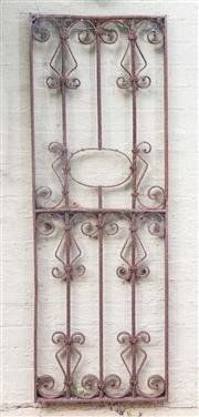 Sale 8550H - Lot 244 - A wrought iron gate as a rustic outdoor wall hanging  H 150 x W 53cm