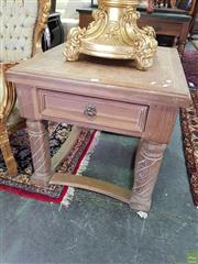 Sale 8566 - Lot 1387 - Pair of Hardwood Side Tables