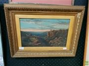 Sale 8582 - Lot 2008 - Artist Unknown, Mountains, oil on board, 19 x 29cm, no visible signature