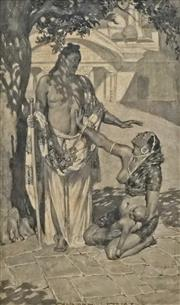 Sale 8692 - Lot 557 - Norman Lindsay (1879 - 1969) - The Plea 35.5 x 21cm