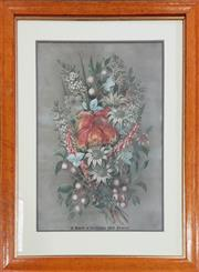 Sale 8973 - Lot 2003 - Ellis Rowan A Bunch of Australian Wild Flowers chromolithograph 79.5 x 61cm (frame) printed by Alfe Cooke, Queens Colour Printers...