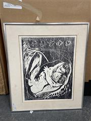 Sale 9028 - Lot 2085 - Woodblock Artwork of a Lady