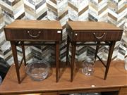 Sale 9039 - Lot 1028 - Pair of Teak Bedside Lockers by Meredew (H54 x W43 x D30cm)