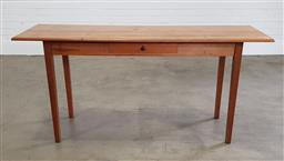 Sale 9255 - Lot 1183 - Elm hall table with single drawer (h:77 x w:160 x d:50cm)