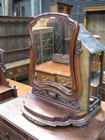 Sale 7919A - Lot 1690 - Large Victorian Mahogany Toilet Mirror on Lyre Shaped Support