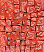Sale 8301 - Lot 593 - Thomas Tjapaltjarri (c1964 - ) - Tingari 95 x 80cm