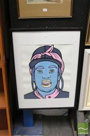 Sale 8468 - Lot 2003 - Jack Vigor (Street Artist, CASPER) - Missy Elliot 49 x 39cm (stretched & ready to hang)