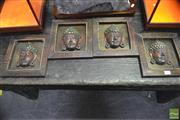 Sale 8361 - Lot 1087 - Set of 4 Framed Buddha Heads