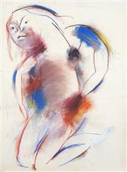 Sale 8466A - Lot 5028 - Anne Hall (1946 - ) (2 works) - Nude Studies, 1966 101 x 70cm, each (sheet size)