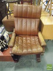 Sale 8495F - Lot 1085 - Module Leather Upholstered Armchair