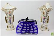 Sale 8529 - Lot 8 - Art Glass Vase Together With Two Vases (AF)