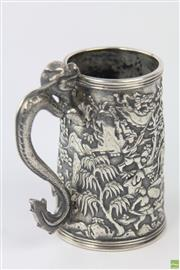 Sale 8594 - Lot 22 - 19th Century Chinese Export Silver Mug (Lee Ching)