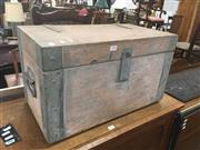 Sale 8740 - Lot 1406 - Metal Bound Small Trunk