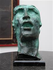 Sale 8782A - Lot 109 - After Rodin, the mask bronze. Height 30cm on a marble base.