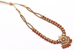 Sale 9136 - Lot 272 - An Indian bejewelled choker necklace, with adjustable length