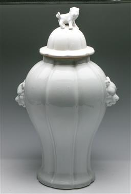 Sale 9175 - Lot 247 - An Eichholtz Lidded Urn with Twin Panther Head Handles and Lion Finial (H:54cm)