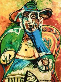 Sale 9248H - Lot 161 - PABLO (RUIZ) PICASSO (1881-1973) Limited Edition Colour Giclee on Fine Art Paper Collection Domaine Picasso Titled: Seated Old...