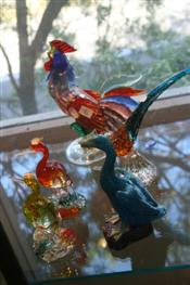 Sale 7875 - Lot 81 - Murano Art Glass Cockerel with Various Other Bird & Duck Figures