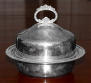 Sale 8088A - Lot 72 - Hecworth silver plate muffin dish with separate liner