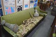 Sale 8326 - Lot 1229 - Retro 3 Seater Lounge and an Armchair